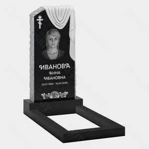 Памятник на могилу в химках Эконом памятник Арка с резным профилем Гусь-Хрустальный