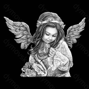 Фото ангелочков на памятник ребёнку 15