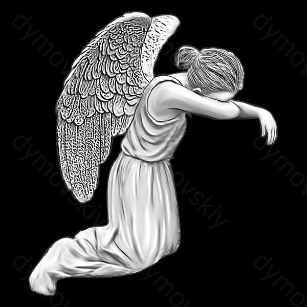 скорбящий ангел на памятник картинки